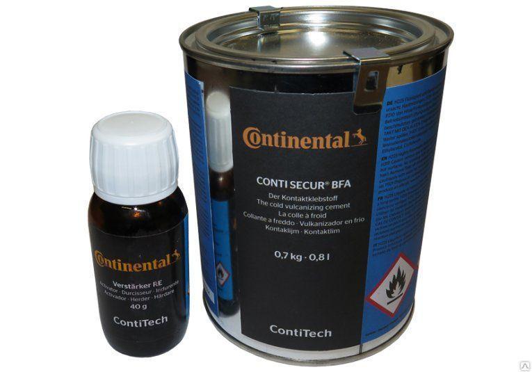Двухкомпонентный клей для холодной вулканизации Conti Secur® BFA 0,7 кг. + Активатор RE 40 гр.
