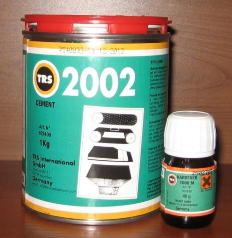 Двухкомпонентный клей для холодной вулканизации TRS 2002 new, 1 кг + Отвердитель TRS 1000 M, 40 гр